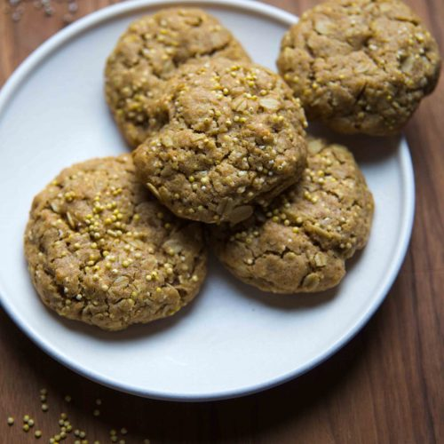 Add cooking amaranth to your to-do list. Here popped amaranth gets baked into a Four Grain Breakfast Cookies recipe that also includes a variation for banana breakfast cookies.